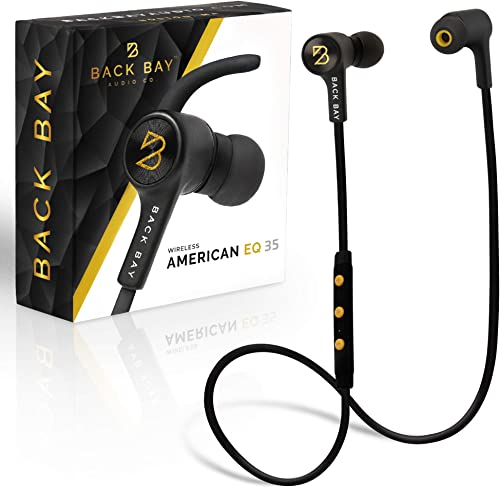 Back Bay – Wireless Bluetooth Earbuds. Sweatproof Earphones with APTX Hi-Fi Stereo Sound, 8-Hour Battery, Microphone, Magnet, in-Ear Headhones and Carrying Bag – Fast Pairing