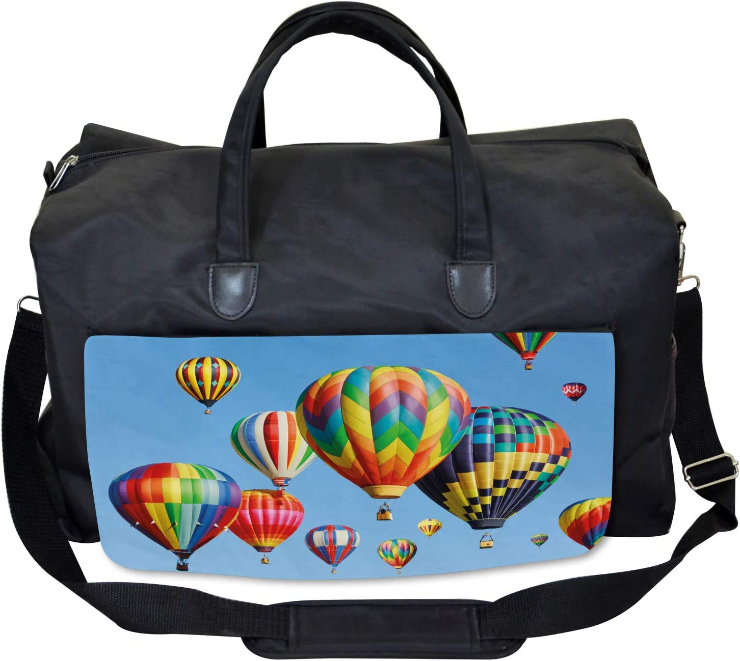 Large Weekender Carry-on Ambesonne Nostalgic Gym Bag Journey Fun Sky