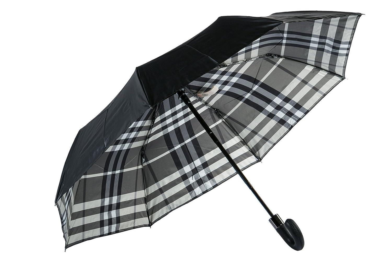 Burberry pequeño paraguas automático de hombre nuevo Strand negro: Amazon.es: Zapatos y complementos