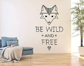 tjapalo® S-pkm34 Wandtattoo englisch spruch be wild and free ...