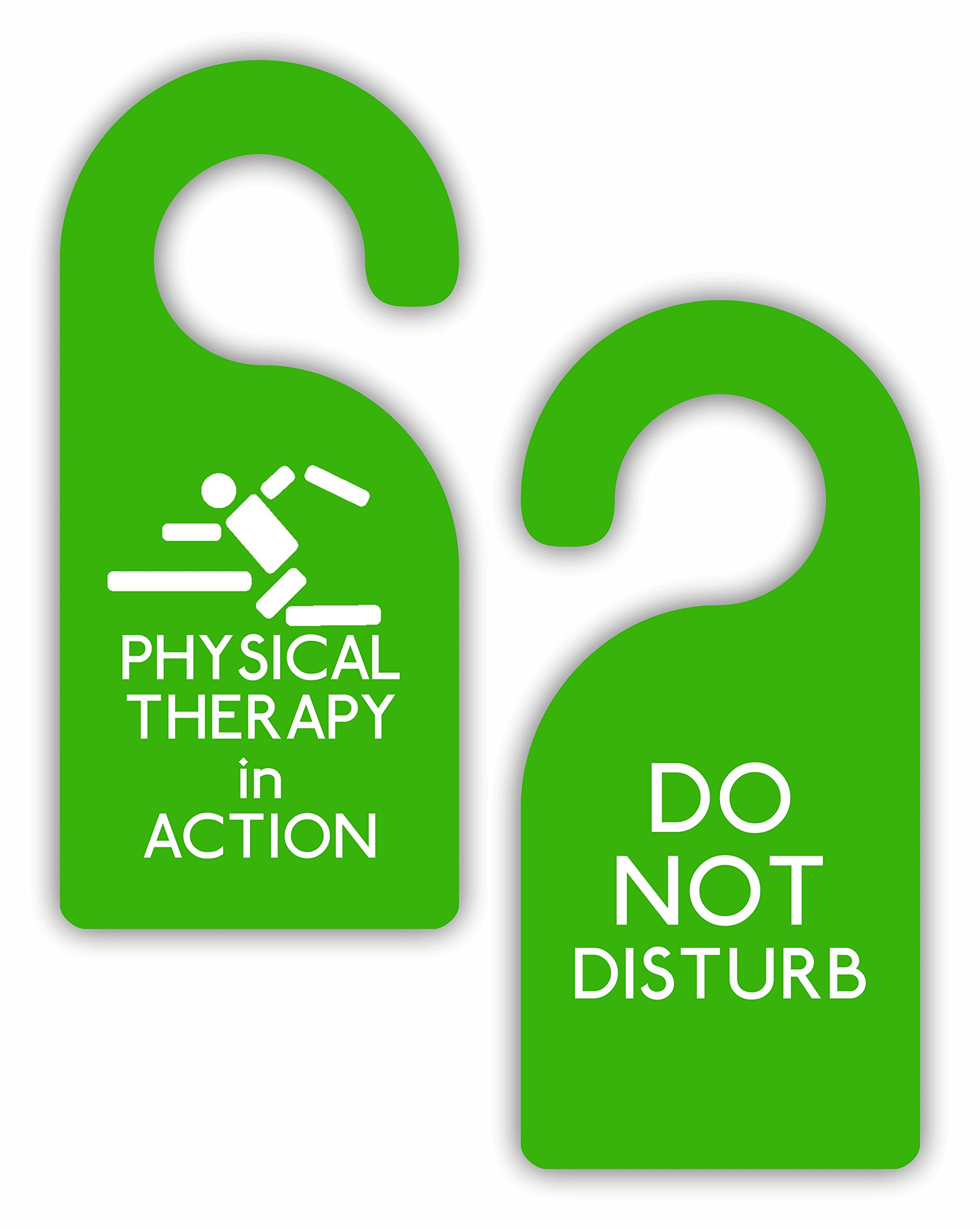 Physical Therapy in Action/Do Not Disturb - Therapist - Double-Sided Hard Plastic Glossy Door Hanger