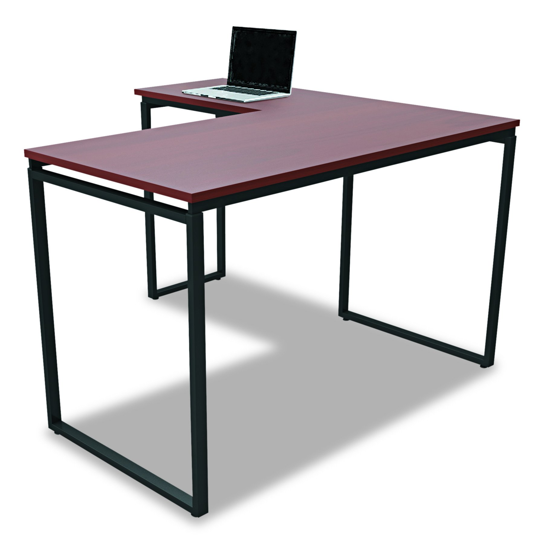 Linea Italia SV751CH Seven Series L-Shaped Desk, 60'' by 60'' by 29-1/2'', Cherry by Linea Italia
