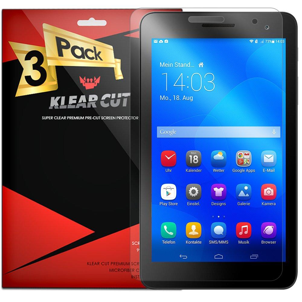 Huawei MediaPad t2 7.0スクリーンプロテクター[ 3 - Pack ]、KlearカットHDクリアスクリーンプロテクターfor Huawei MediaPad t2 7.0 ( 7.0インチ)ペットフィルム気泡防止シールド   B01LYCIDFQ