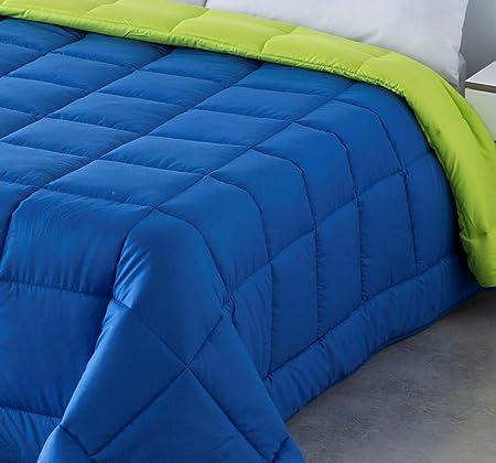 COTTON ARTean EDREDON NORDICO Bicolor Reversible Fibra 300 gr/m² Cama DE 150/160 Colores Azul Y Verde: Amazon.es: Hogar