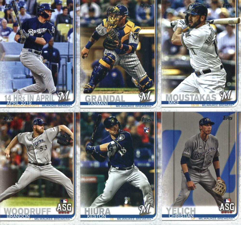 #US224 Yasmani Grandal Milwaukee Brewers Official Baseball Trading Card 2019 Topps Update Series 3