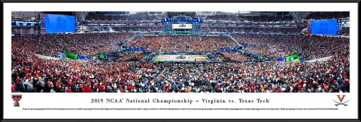 2019 NCAA Basketball Championship - Virginia vs Texas Tech - Standard Framed Picture by Blakeway Panoramas by Blakeway Worldwide Panoramas, Inc.