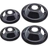 Beaquicy WB31M19 WB31M20 Burner Drip Pan Set 4 Pack - Replacement for Ken-more GE Hotpoint Range