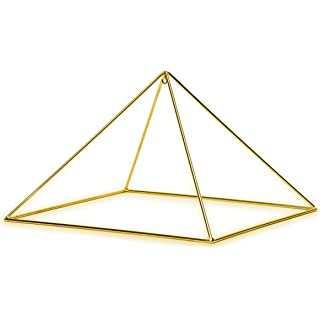 "Finest Quality 51 Degree 9"" 24k Gold-plated Copper Meditation Pyramid for Healing"