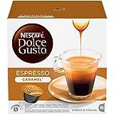 NESCAFÉ DOLCE GUSTO ESPRESSO CARAMEL Caffè espresso al caramello 3 confezioni da 16 capsule (48 capsule)