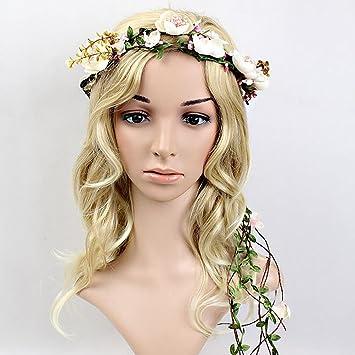 Amazon De Blumen Stirnband Winomo Blumen Girlande Handgemachtes