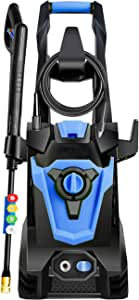 DuRyte 3500PSI 2.0GPM Electric Pressure Washer,Electric Power Washer with 4 Quick-Connect Spray Tips and Wand,Car Washer(Blue)