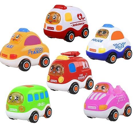 Amazon | QD-BYM ミニカー 6台 おもちゃ 引き戻す セット 子供向け 1歳 2