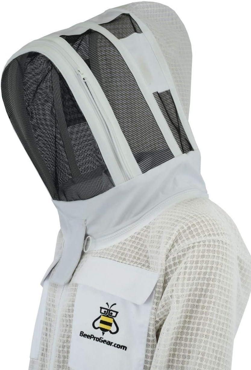 Tenue Voile descrime Bee Suit Fencing Veil SFV-Professional Choice 3 Couches Ultra ventil/é s/écurit/é Costume Unisexe Blanc api Costume Costume Apiculteur Costume Apiculteur