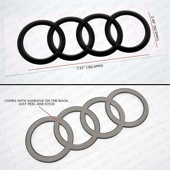 Amazon Com Us85 Audi Sport 3d Ring Luggage Lid Adhesive Logo Emblem