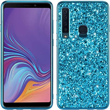 Proteja su teléfono Celular Estuche Protector de TPU a Prueba de Golpes y Polvo de Brillo para Galaxy A9 (2018) / A9s para el teléfono Celular de Samsung (Color : Azul): Amazon.es: Electrónica