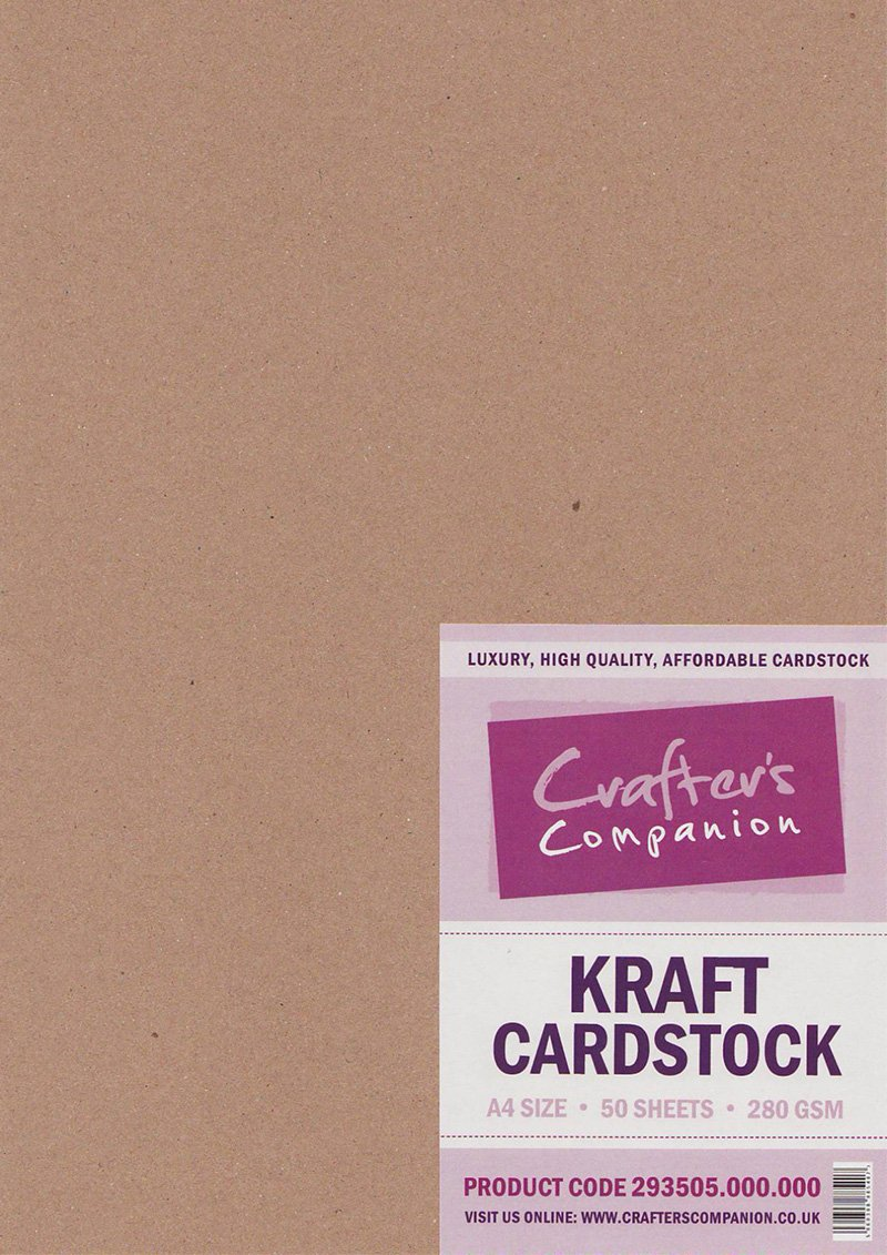 Crafters Companion Kraft Cardstock A4 - Pack of 50 OfficeCentre 293505