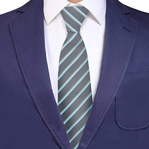 *Sale* Cornflower Blue Mens Ties Formal Wedding Male Neck Tie Formal Cheap