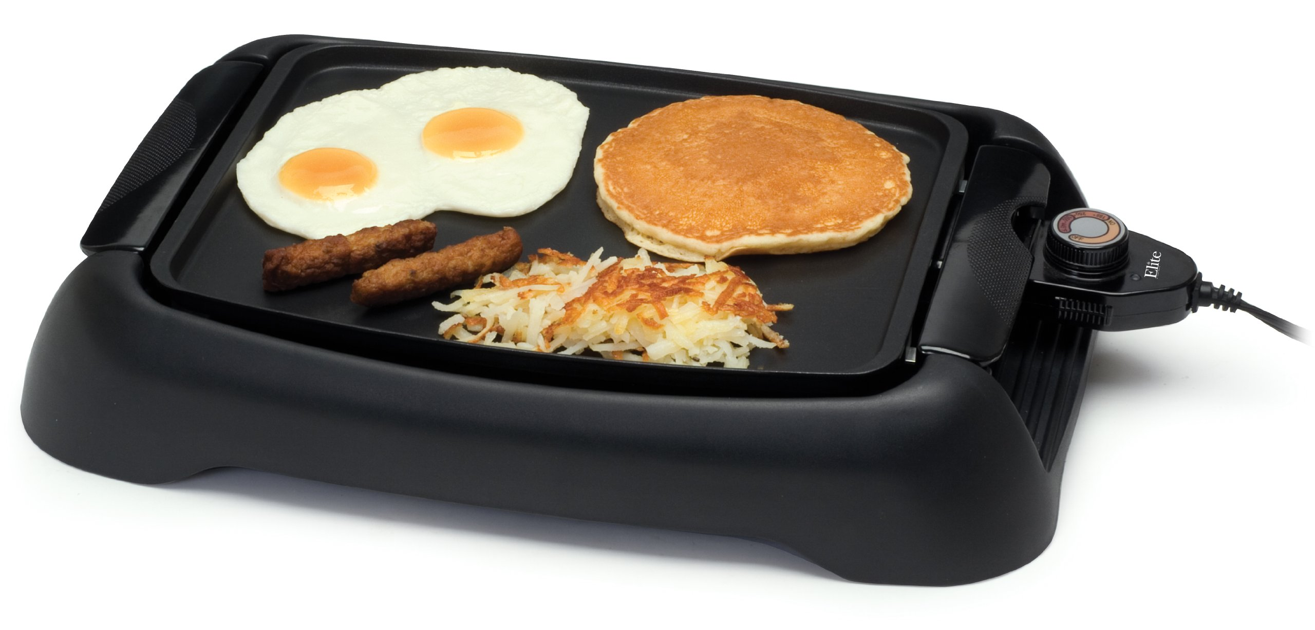 MaxiMatic EGL-3450GD Elite Cuisine 13-Inch Countertop Non-Stick Electric Indoor Grill, Black