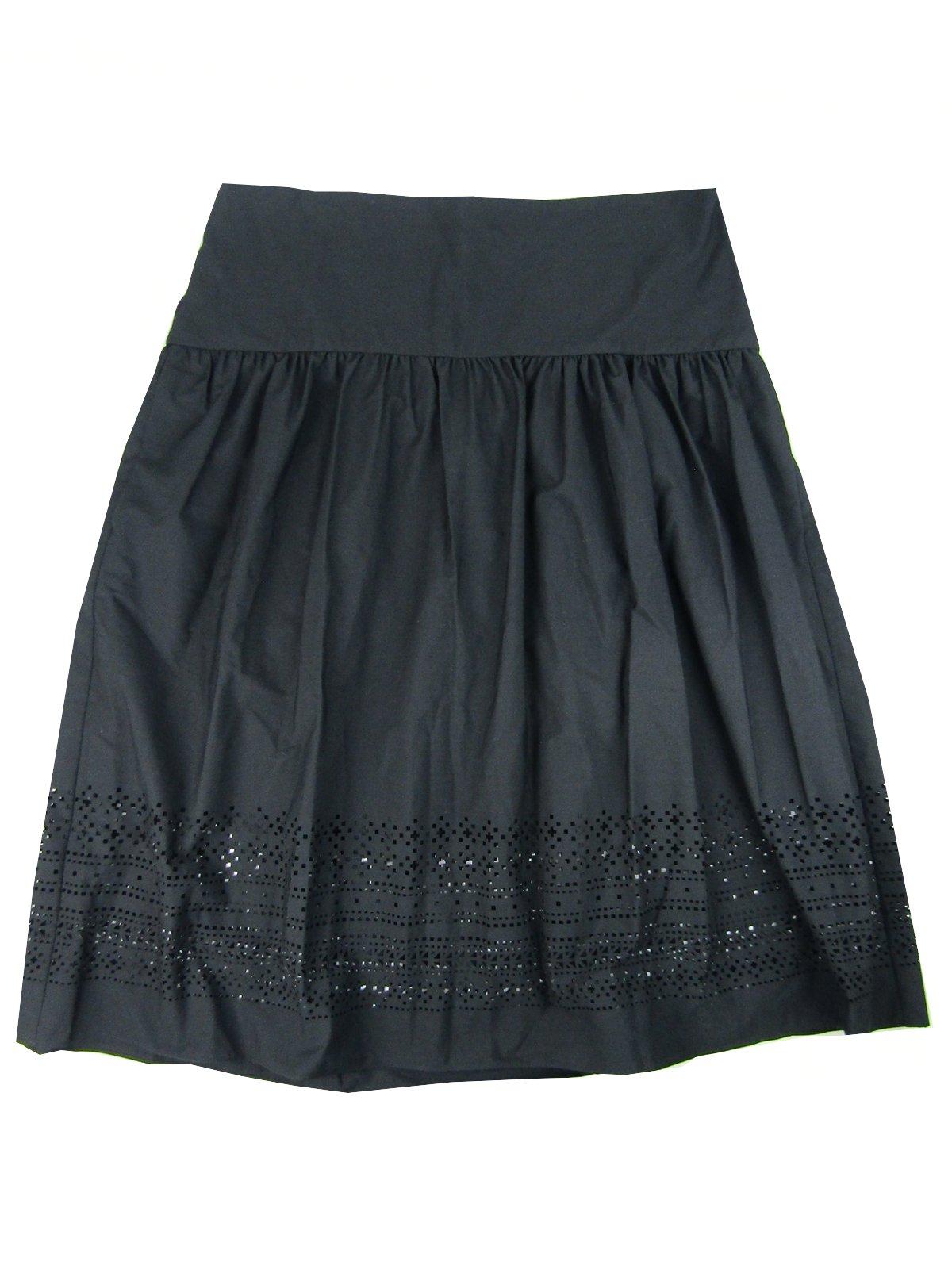Lauren by Ralph Lauren Women's Laser Cut Poplin Skirt (12, Polo Black)