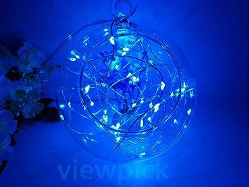 Amazon.com : Viewpick 4m 40 LEDs Blue Fairy Lights Silver Wire ...