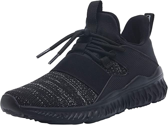 Kids Boys Running Trainers Fitness Gym Sports Comfy Lace Up Shoes Grey Size New