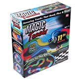 220 Pieces Magic Tracks Car Glow in Dark Racing for Kids Amazing Racetrack with 2 Cars