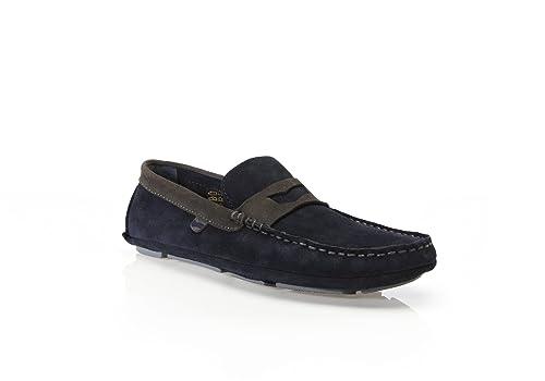GAS, Neatness- Zapatos elegantes sin cordones para hombre, mocasines casuales, gamuza