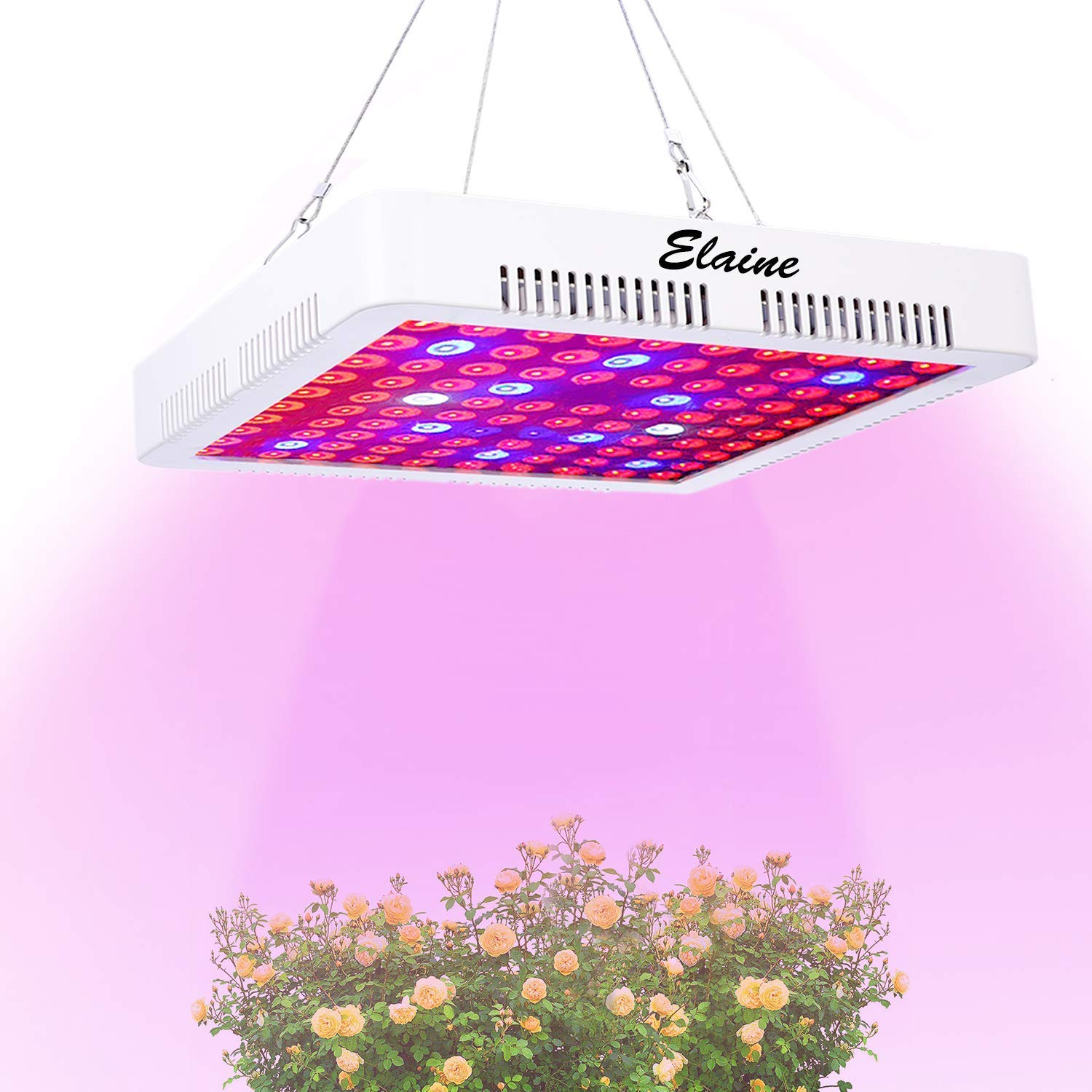 LED Grow Light Full Spectrum 300w,Elaine Indoor Plant Grow Light with UV&IR for Greenhouse Hydroponic Plant Succulents Seedlings Veg and Flower