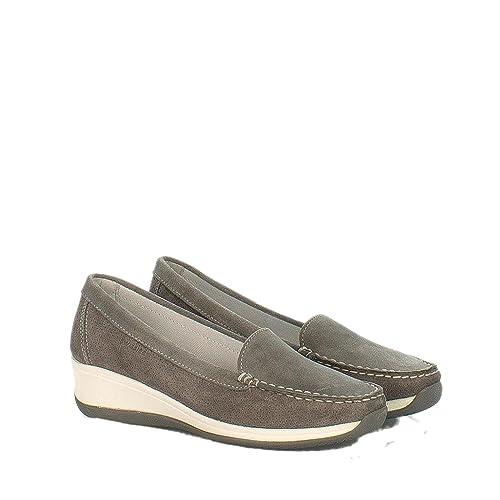 Swissies - Mocasines para Mujer Tortora: Amazon.es: Zapatos y complementos