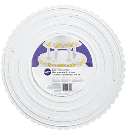 Wilton 302-16 Decorator Preferred Round Separator Plate for Cakes 16-Inch  sc 1 st  Amazon.com & Amazon.com: Wilton 302-16 Decorator Preferred Round Separator Plate ...