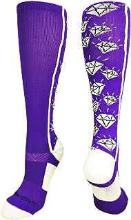 33d043da5d8 MadSportsStuff Crazy Socks with Diamonds Over The Calf (Multiple Colors)