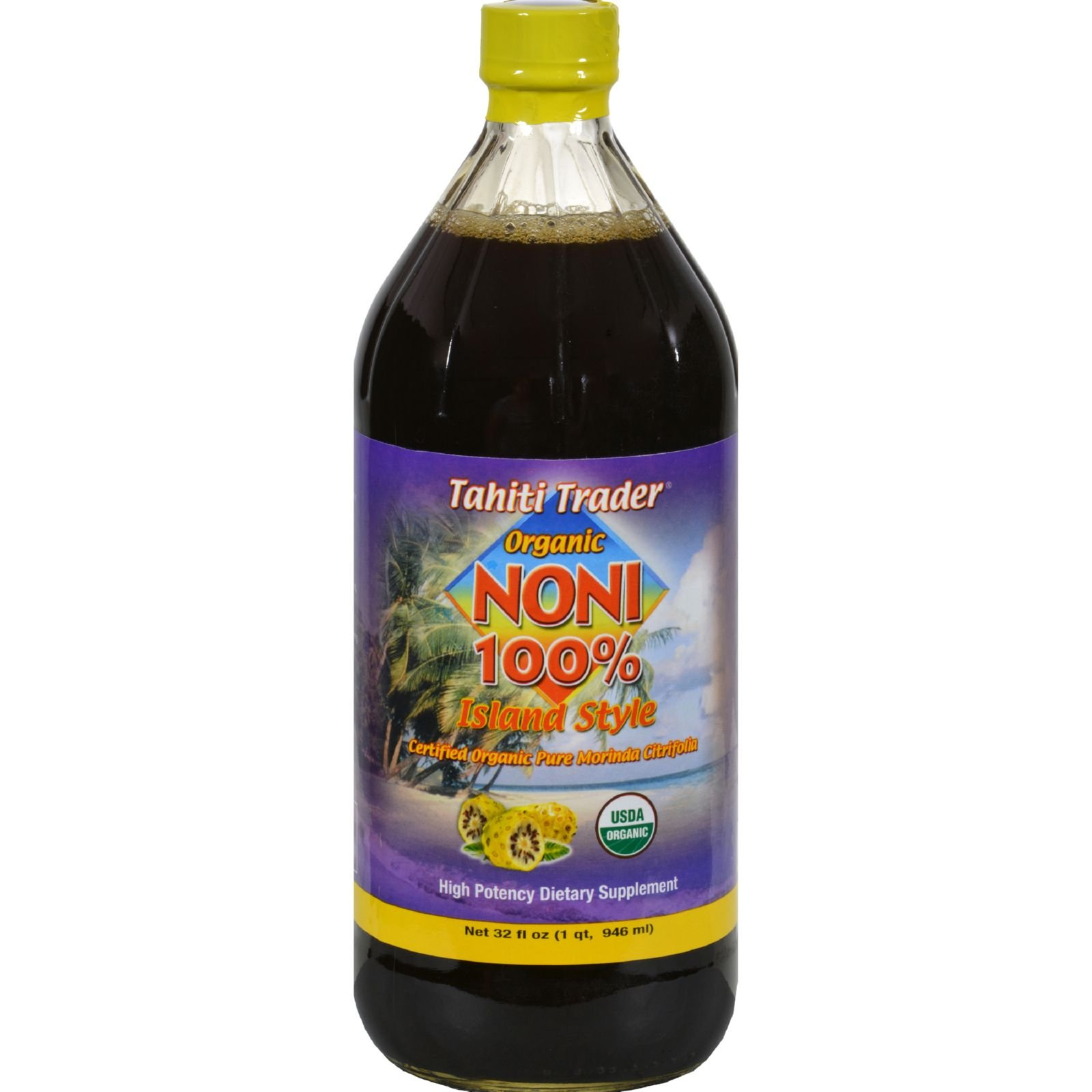 2 Pack of Tahiti Trader Juice Noni 100% Island