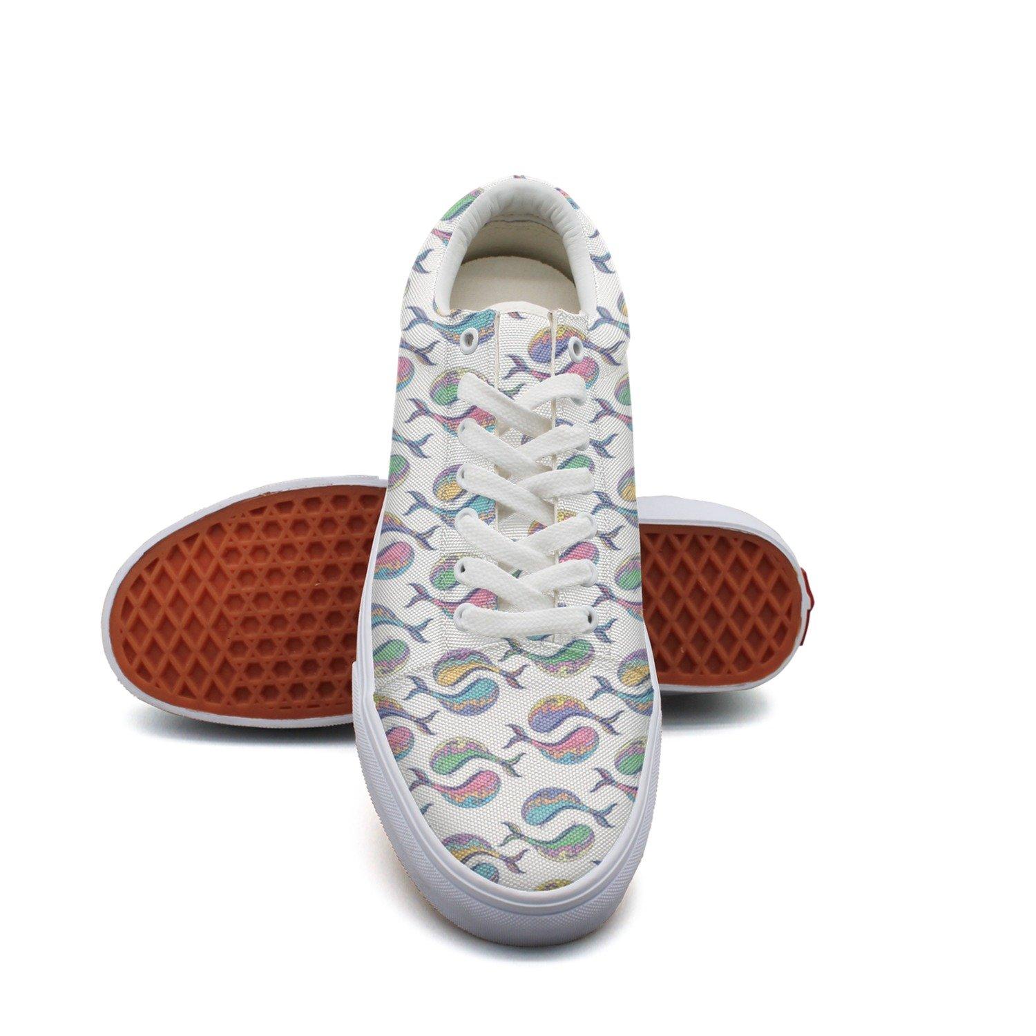 Colorful Whale Women Casual Shoes Flat Cool Nursing Trainers