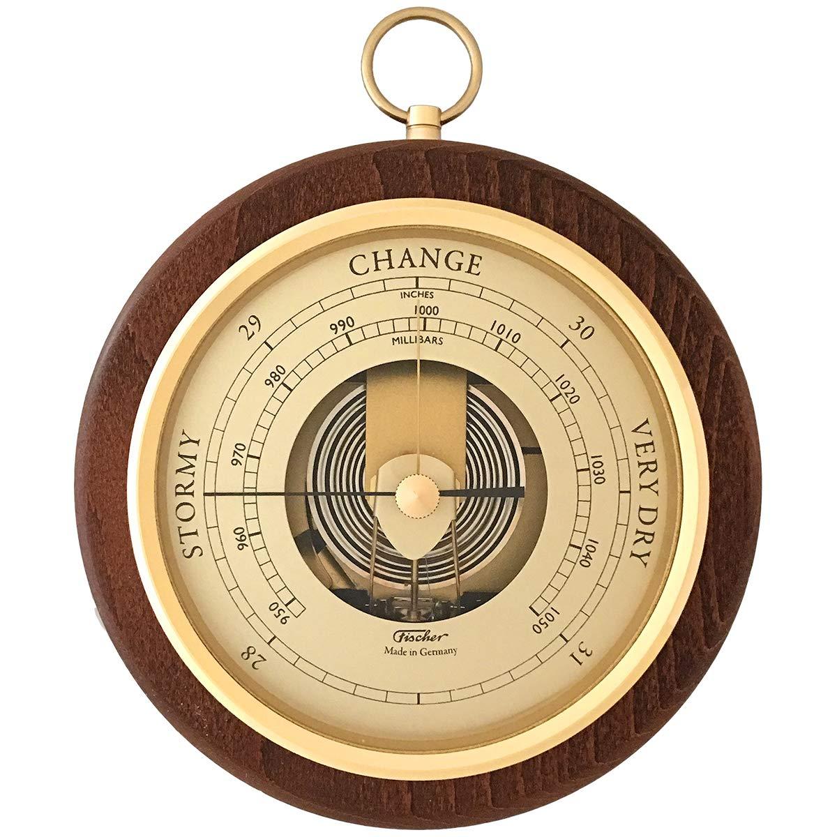 Fischer Barometer Pascal, Brass-Walnut 6.7'' / 170 mm - 1436R-12-US (US Version)