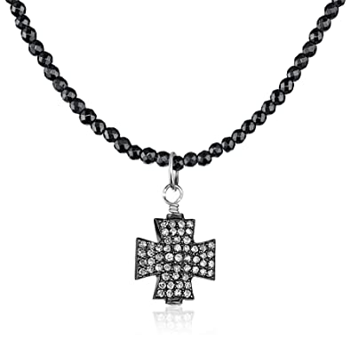 th mk marcus necklace chains neiman look quick cross diamond pave