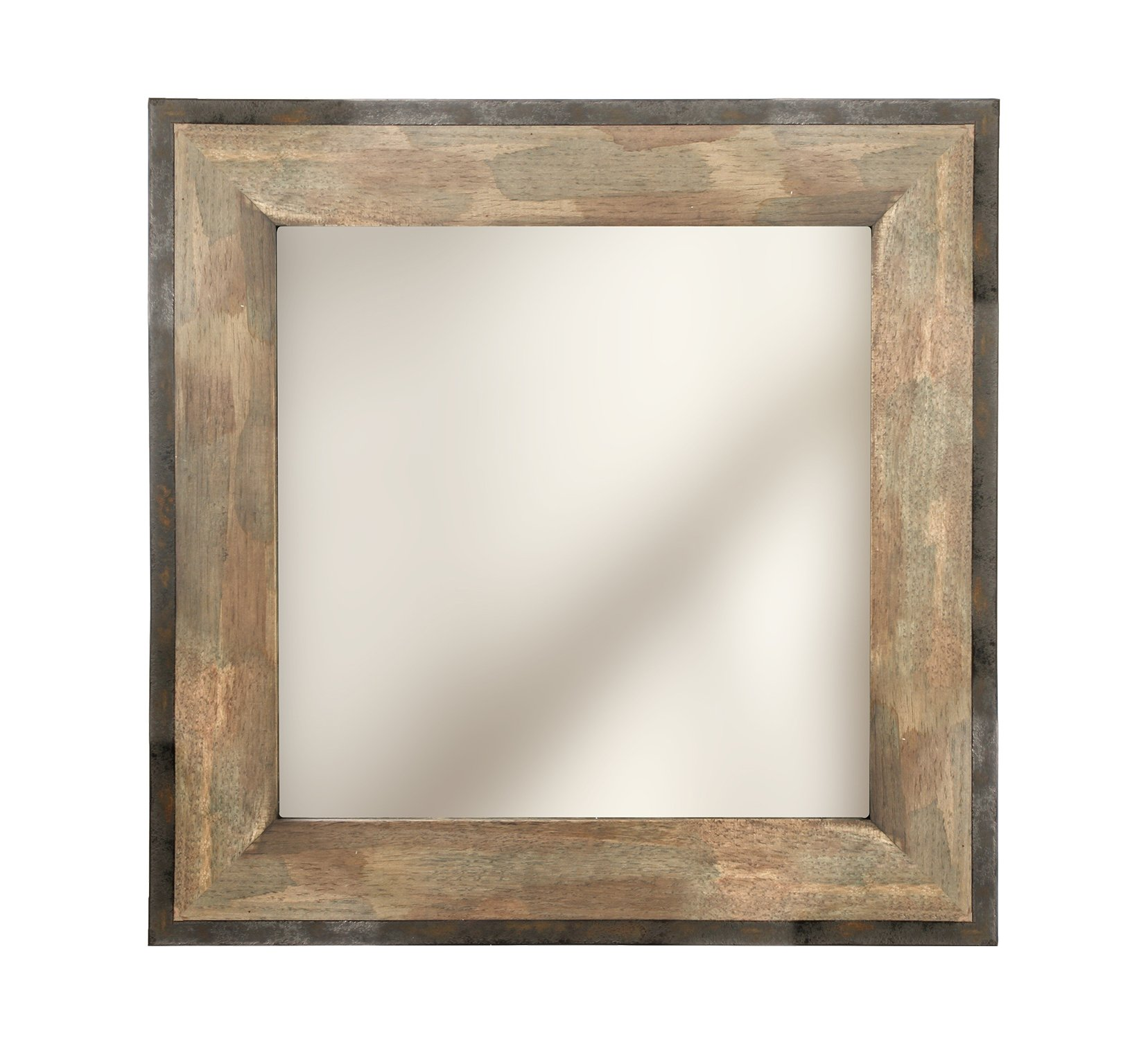 Hosley Wooden & Metal Frame Mirror- 20'' High. Ideal for Weddings, Special Occasions, and for Wall Decor, Home, Spa, Aromatherapy, Reiki. P2