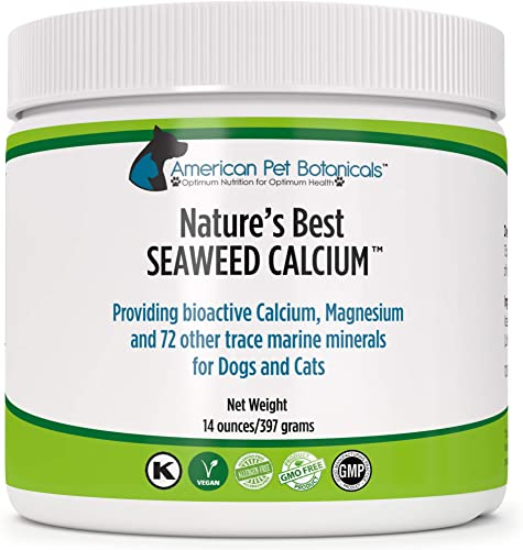 Nature s Best Seaweed Calcium for Pets, Vet Recommended, Tested for Purity, 14 ounces