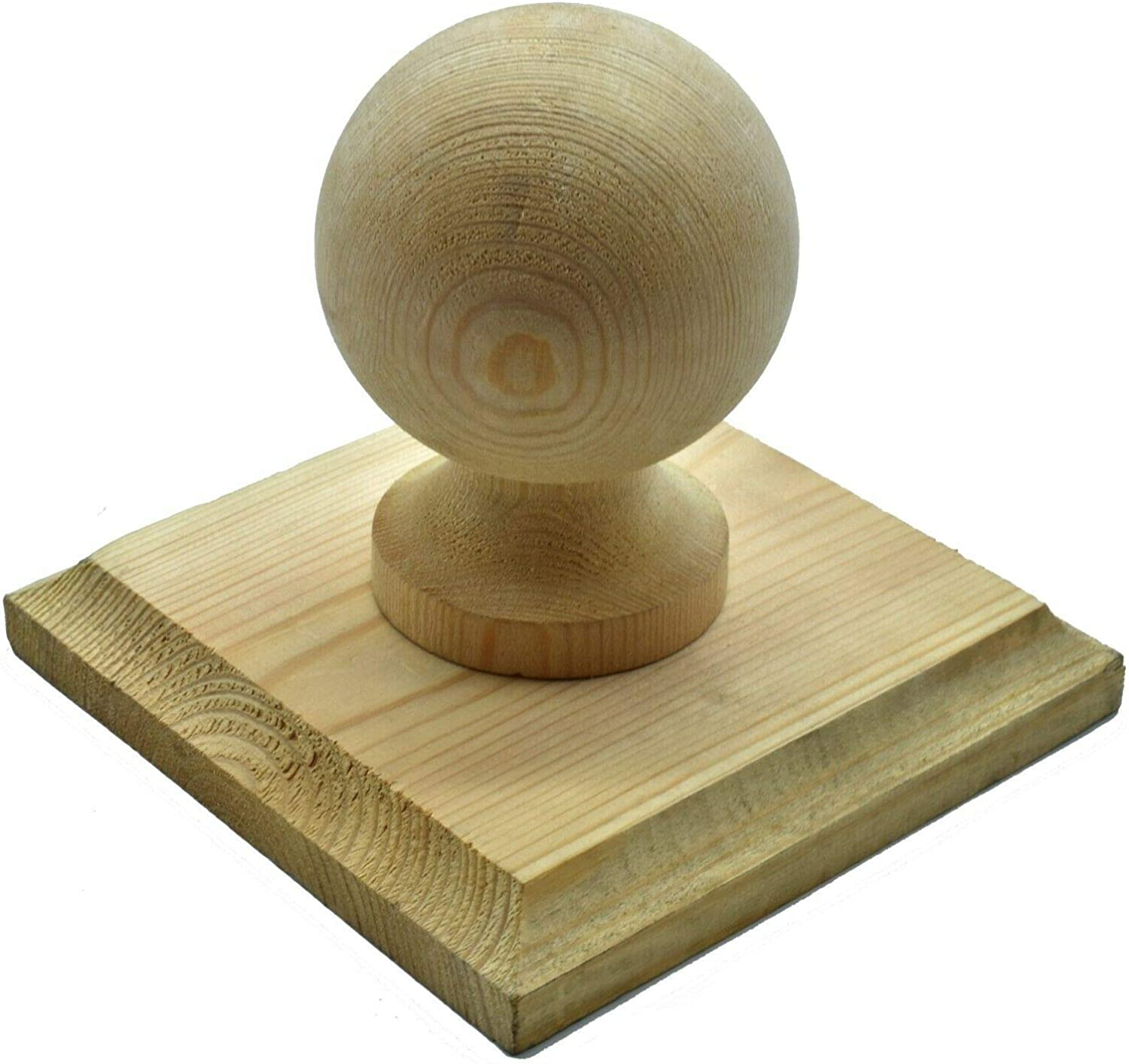 """Wooden Posts Pressure Treated Wooden Finial Base to suit 75mm 3/"""""""