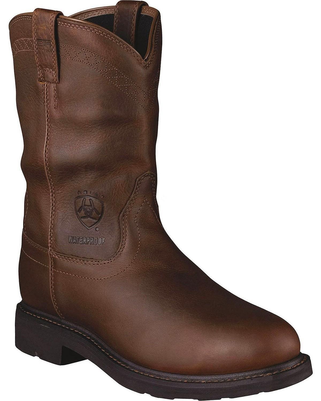 AriatメンズSierra h2o Steel Toe Western Work B07CZ4JBRT 7 EE|ブラウン ブラウン 7 EE