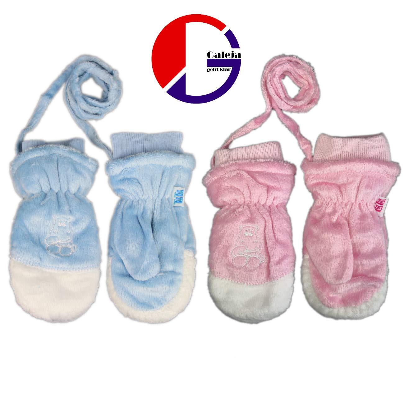 Galeja TuTu Handschuhe Kinder Fausthandschuhe Jungen M/ädchen F/äustlinge 2-4 Jahre Futter Baumwolle
