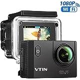 VTIN Action Kamera WIFI 2,0 Zoll, VTIN Full HD 1080P Sport Action Camera Cam Wasserdicht 170 ° Weitwinkel mit 2 Verbesserten Batterien und Zubehör Kits