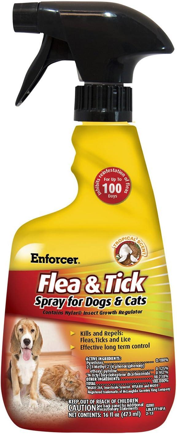 Enforcer EFT166 Flea & Tick Spray for Dogs & Cats, 16 oz