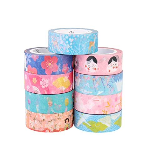 15mm*7m Blue washi tape masking tapes Decorative Note scrapbook Diary crafts