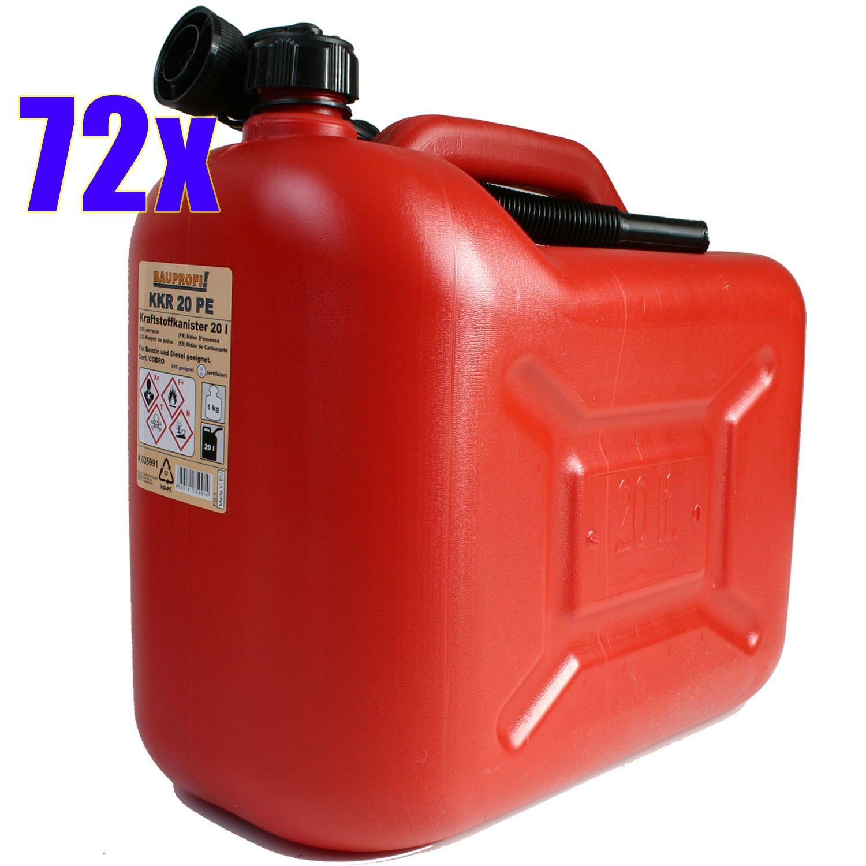 1 Palette = 72 Benzinkanister KKR 20 PE rot 20 Liter Kraftstoffkanister 20L