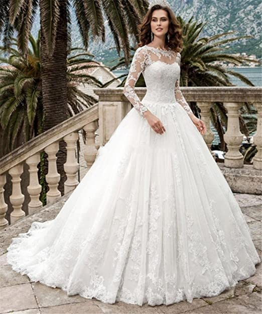 Blanco Mujer Novia Happymood De Largo Elegante Vestido EwqxXvt