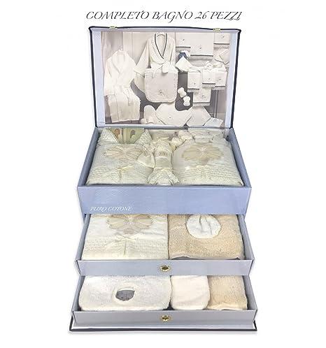 tex family completo baño con albornoz de rizo bordada con encaje macramé 26 piezas Idea novia