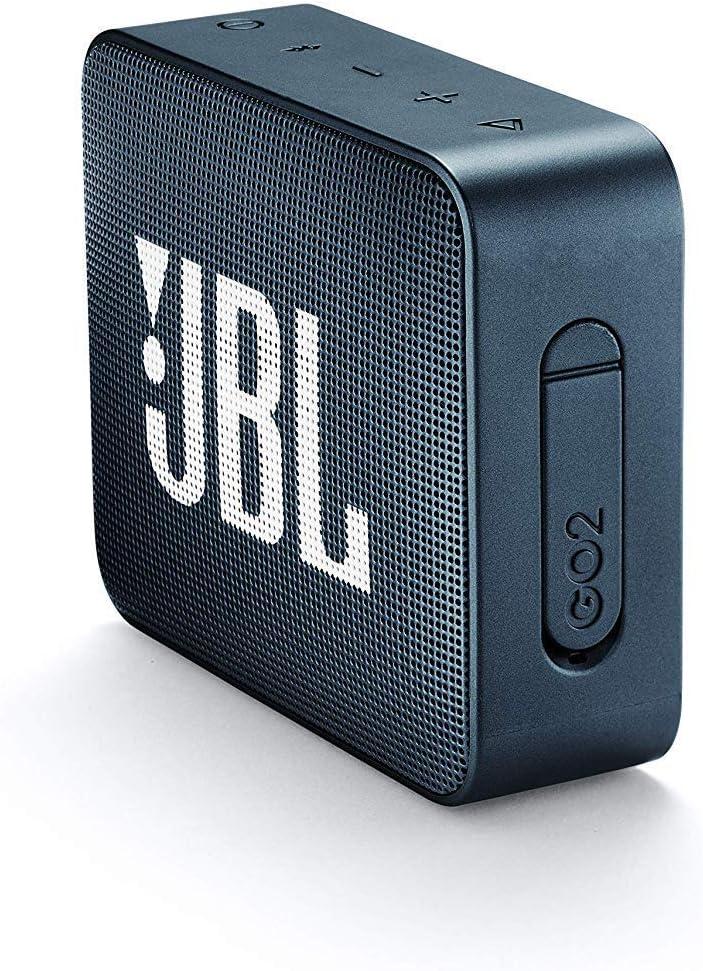 Jbl Go 2 Kleine Musikbox In Dunkelblau Wasserfester Portabler Bluetooth Lautsprecher Mit Freisprechfunktion Bis Zu 5 Stunden Musikgenuss Mit Nur Einer Akku Ladung Audio Hifi