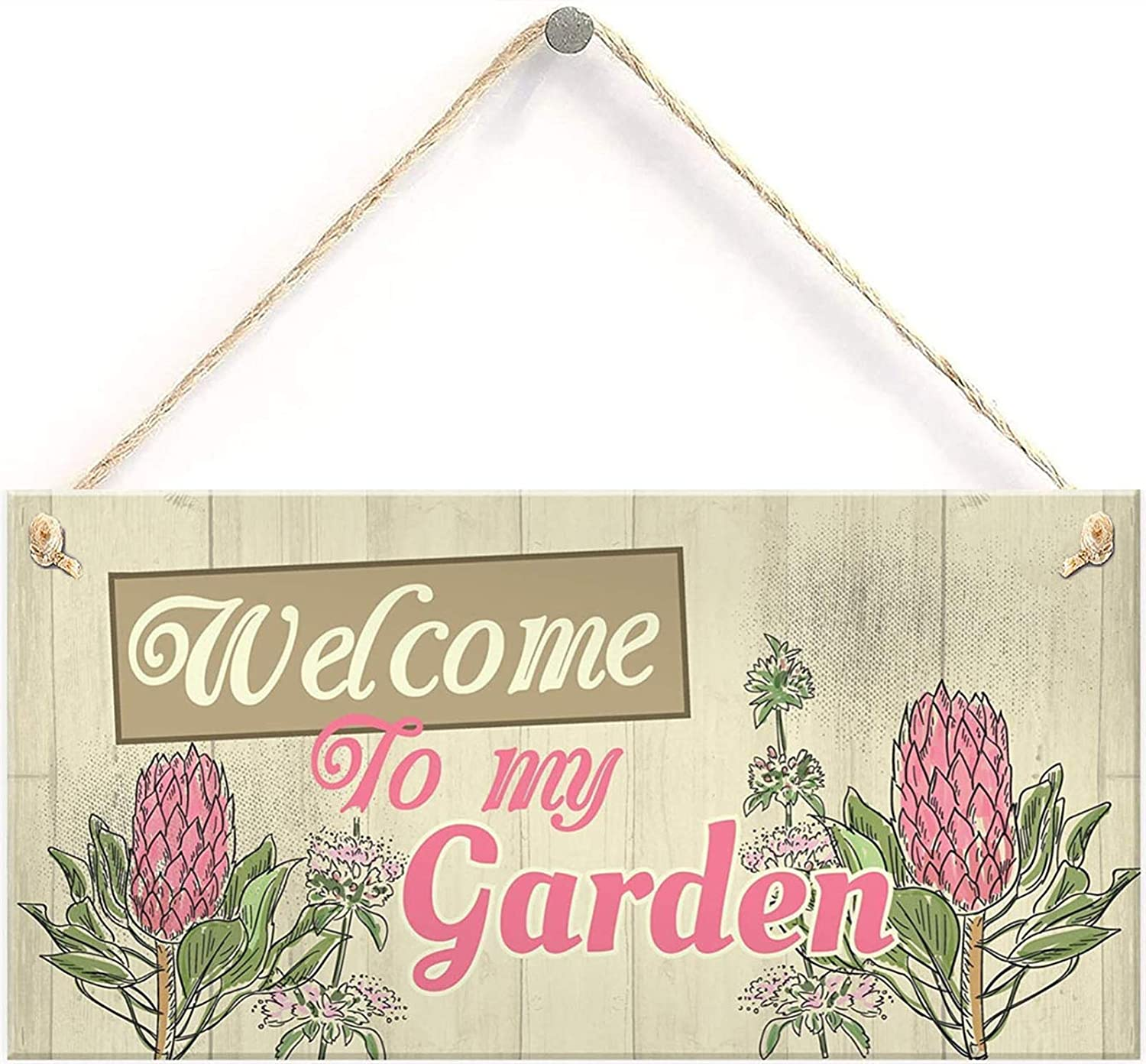 Wall Plaque Welcome to My Garden Home Shed Sign Gifts for Nan Birthday Friendship Gifts 10