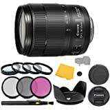 Canon EF-S 18-135mm f/3.5-5.6 is Nano USM Lens + 3 Piece Filter Set + 4 Piece Close Up Macro Filters + Lens Pen + Pro…