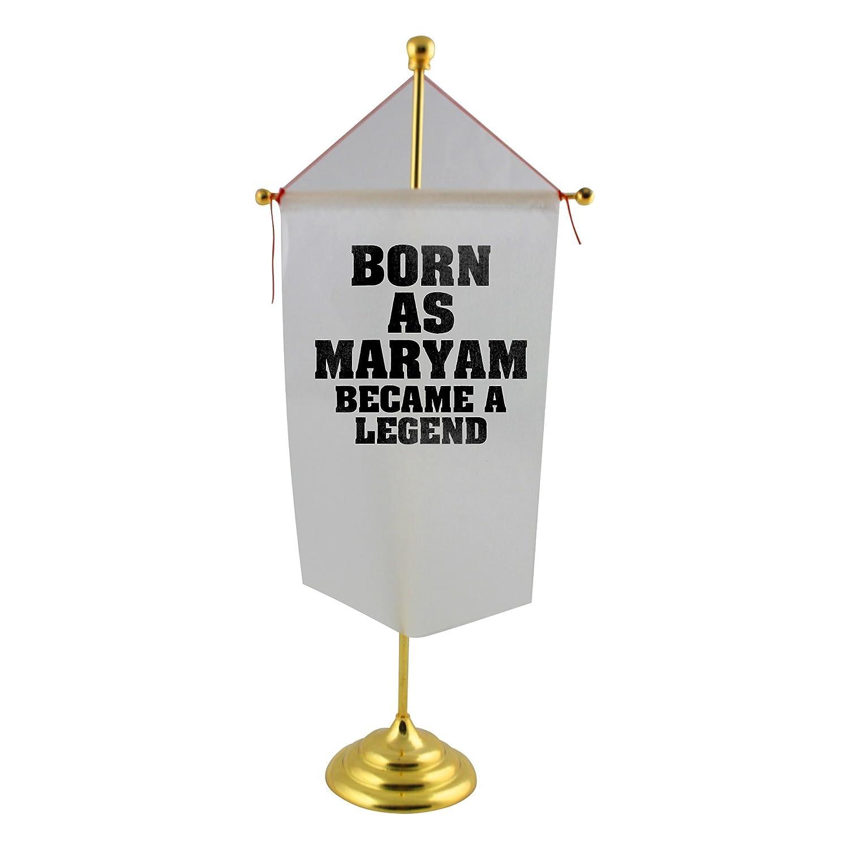 Born en como Maryam, se convirtió en Born una leyenda bandera de mesa d4fc4e